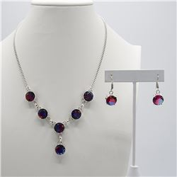 Gorgous 2 Piece Lab Alexandrite Jewelry Set.