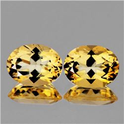 NATURAL GOLDEN YELLOW CITRINE Pair 16x12 MM - FL
