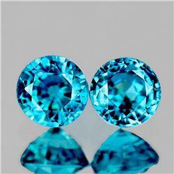 Natural Extreme Brilliancy Blue Zircon Pair [If-VVS]