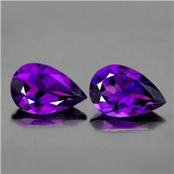 NATURAL PURPLE AMETHYST PAIR [IF-VVS]