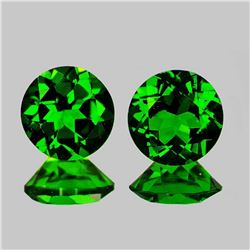 Natural Chrome Green Diopside Pair [Flawless-VVS]