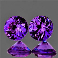 Natural Grape Purple Sapphire Pair [Flawless-VVS]