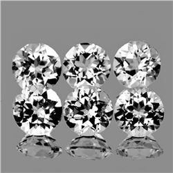 NATURAL DIAMOND WHITE TOPAZ 6 Pcs [FLAWLESS-VVS]