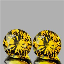 Natural Rare Yellow Mali Garnet Pair{Flawless-VVS}