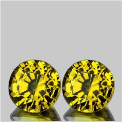 Natural AAA Yellow Mali Garnet Pair{Flawless-VVS}
