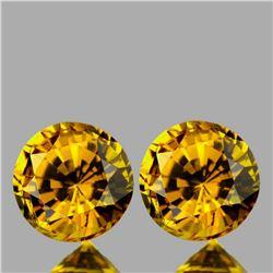 Natural Golden Yellow Mali Garnet Pair{VVS}