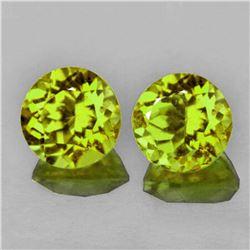 Natural Green Yellow Mali Garnet Pair