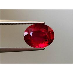 Stunning Lab Pigeon Blood Ruby 4.45 Carats - Flawless