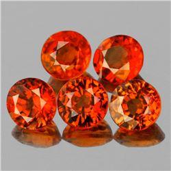 Natural Orange Sapphire 5 Pcs - VVS