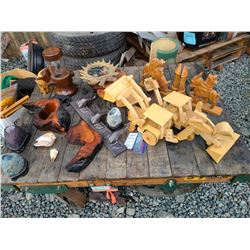 Carved wood items Cat A
