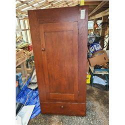 Antique wood wardrobe Cat C