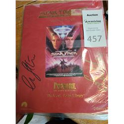 Signed Star Trek The Final Frontier Original Movie Script
