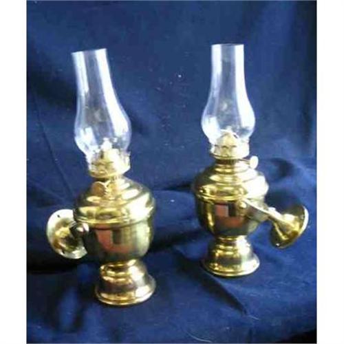 Ships Oil Brass Gimbaled Lamps1262265 Perko Old Pair cF1TJlK