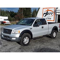 G6 --  2004 FORD F150 EXT CAB 4X4 , Silver , 219245  KM's
