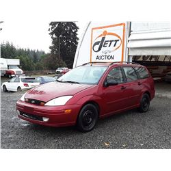 J2 --  2001 FORD FOCUS SE , Red , 182240  KM's