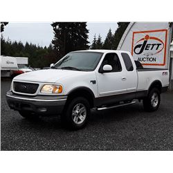 F6 --  2003 FORD F150 XLT EXT CAB 4X4 , White , 223755  KM's