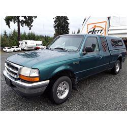 F4 --  1998 FORD RANGER SUPER CAB XLT , Green , 153545 MILES