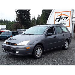 "A10 --  2002 FORD FOCUS SE  , Grey , 241562  KM's ""NO RESERVE"""