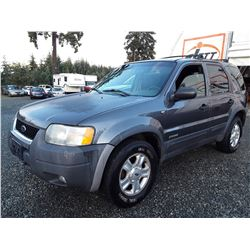 K6 --  2002 FORD ESCAPE XLT  , Grey , 364470  KM's