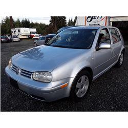 K3 --  2001 VW GOLF GLS , Silver , 117110  KM's