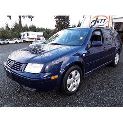 J4 --  2004 VW JETTA GLS , Blue , 188605  KM's