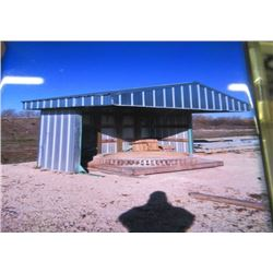 "Sheet Metal Shed 8'8"" Long x 10' W x 7.5' H LOCATED BALMORAL - CONTACT DWIGHT FOR VIEWING & P/U  ARR"
