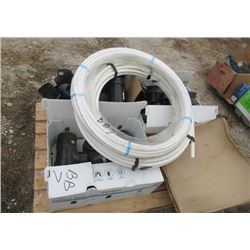 "Pallet of PCV Connectors- 100' 3/4"" Tubing 100' 1/2"" Tubing, & New Kitchen Sink"