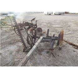 VIntage Frost & Wood Horse Mower