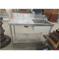 "Stainless Steel Sink 36""H 48""W 24""D"