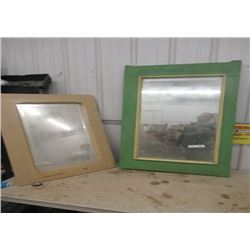 "2 Vintage Painted Framed Bevelled Mirrors 1) 48"" x 26"" 1) 36"" x 24"""