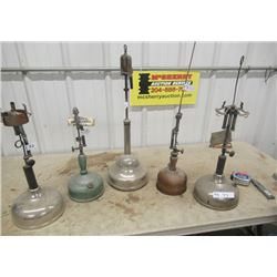 5 Vintage Gas Lamps - 2 Are Coleman