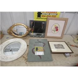 4 Items - Mirror & Pictures