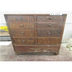 "9 Drawer Cabinet 29.5""H 18.5""W 7""D"