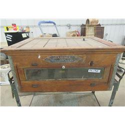 "Vintage Brent MFG Co - Wpg, Wood Egg Incubator 15""H 32"" W 26""D"