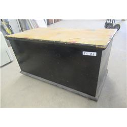 """Vintage Immigrant Trunk 22""""H 39""""W 20""""D"""
