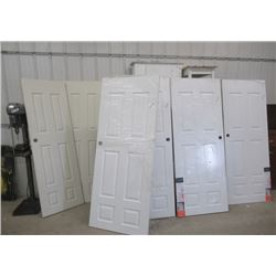 "6 New Interior Doors 4) 30"" x 80"" 2) 24"" x 80"""