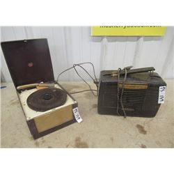 2 Items -Bakelight Radio 1) RCA Vitor Radio & Record Player 1) See Breeze Record Player Mdl 121A