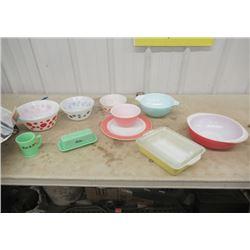 Vintage Pyrex Mixing Bowls, &  Jadite Butter Dish
