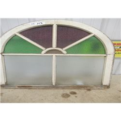 """Vintage Stained Glass Window 32""""H 30""""W"""