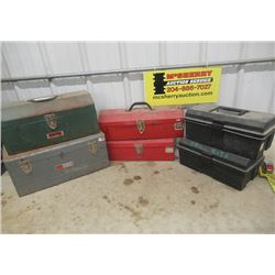 6 Tool Boxes- 4 Are Metal & 2 Are Poly