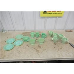 16 Pcs DIshes -11 Pieces Are Jadite