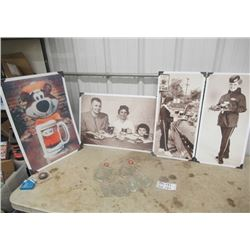 10 Items - 4 A & W Photos, & 6 A &W Mugs