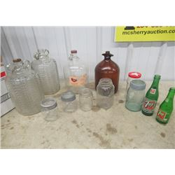 Vintage Jugs, Sealers, & Pop Bottles
