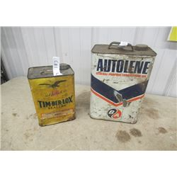 2 Items - BA Oil Can & Tim Ber Lox Sealer Can