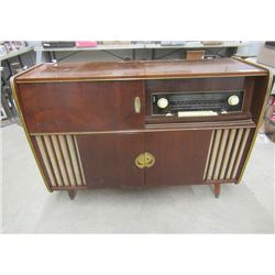 "Vintage Cabinet Radio.Record Player/Box 34""H 45""W 15""D"