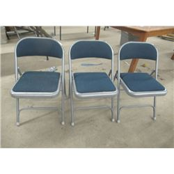 3 Stacking Folding Chairs