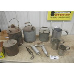 Gas Cans 1 is CNR, Oil Jugs, & Grease Guns