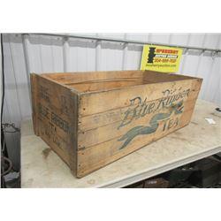 "Ceylon Tea Crate, Blue Ribbob, 16 Lamp Chimney 4"" Rd"