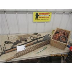 Hay Knife, Store Reach/Grab , Axe Head Carpet Beater, Hay Hook, Leather Well Seals, Plus More!