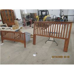 Bed Headboard & Footboard 60""